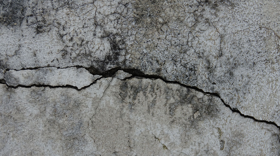 Cracks in walls or floors