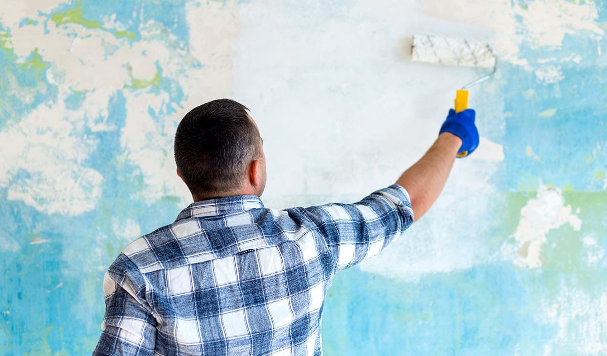 A fresh coat of paint will make a home feel much newer than it is